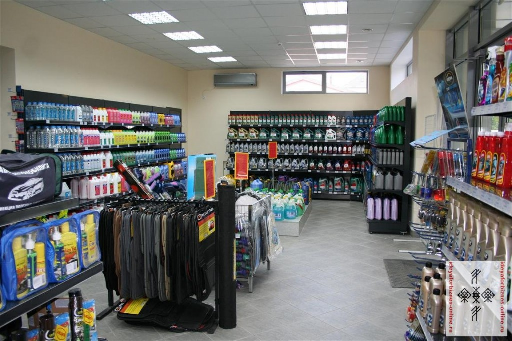 Пример торгового зала с дополнительными товарами